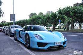 Porsche 918 Blue - porsche 918 spyder weissach package 18 june 2017 autogespot