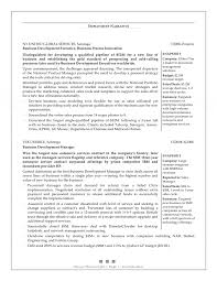 Sample Resume For Business Development by Sample Resume For Legal Secretary Sample Resume Format