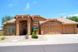 southwestern style homes brand luxury southwestern style arizona home stock photo