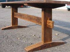 How To Build A Trestle Table Trestle Table Plans For Free Handmade From This Plan Projects