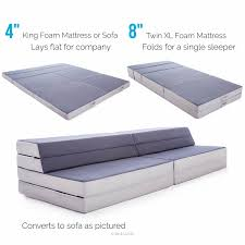 Mattresses For Sofa Beds by Amazon Com Lucid King Twin Xl Convertible Folding Foam Mattress
