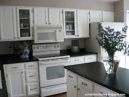 Black Countertop Kitchen by Best 25 White Appliances Ideas On Pinterest White Kitchen