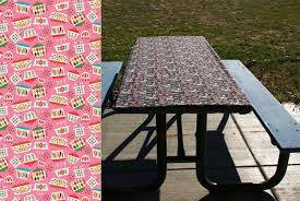 6 Foot Fitted Tablecloth Fitted Picnic Table Cloth Folding Table Cover Fitted Table