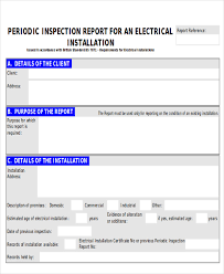 part inspection report template 8 sle inspection report free sle exle format