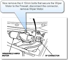 2003 honda accord wiper motor 97 honda prelude diagram on how to replace the wiper motor