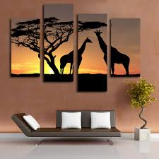 aliexpress com buy beautiful scenery sunset giraffe picture aliexpress com buy beautiful scenery sunset giraffe picture printing on canvas landscape wall art for bedroom from reliable print on canvas suppliers on