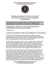 fbi u fouo les criminals using fbi techniques to steal money