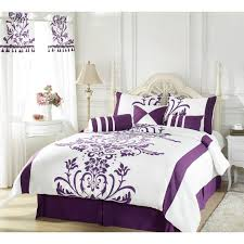 Purple And Teal Bedding Bedroom Fascinating Bedroom Interior With Purple Comforters And