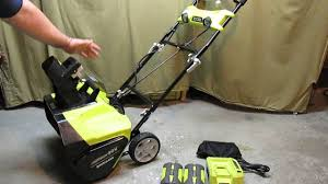ryobi 20 in 40 volt brushless cordless electric snow blower
