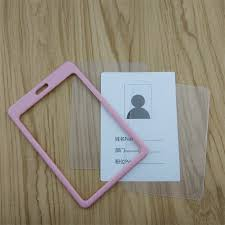 How To Make Employee Id Cards - binxue tuba employee id card cover card easy to buckle id holder