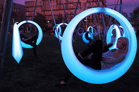 swing time by howler yoon is an led playground for adults in