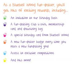 Fundraising Invitation Card Join The Bluebell Wood Fun Draising Club Bluebell Wood