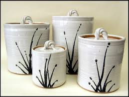 pottery kitchen canisters white kitchen canister set