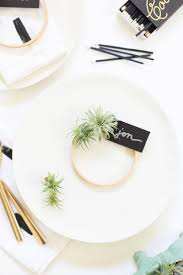 diy air plant wreath place cards lovely indeed
