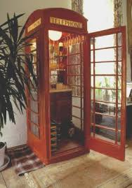 Phone Booth Bookcase British Red Phone Box Drinks Cabinet American Woodworker Cool