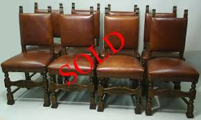 Italian Leather Dining Chairs 8 Italian Dining Chairs In Leather By M Markley Antiques