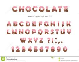 chocolate font cute letters and numbers can be used for birthday