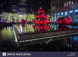new york city usa december 27 2014 giant red christmas stock