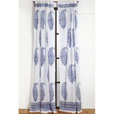 Blue Paisley Curtains Indian Block Print And Paisley Curtains Marigoldliving
