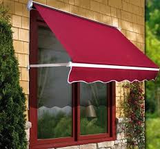 Manual Retractable Awning 6ft Drop Arm Manual Retractable Door Window Awning Canopy Shelter