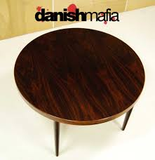 mid century danish rosewood round dining table danish mafia