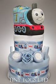 thomas the tank engine 2 tier nappy cake baby boy baby shower new