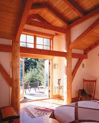 a frame home interiors timber frame and log home greg robinson architect
