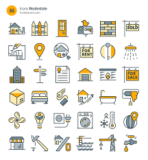 home appliance and real estate icons 72 icons ai csh eps svg