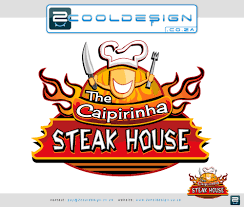 steak house logo brand cool restaurant logo design by guy tasker