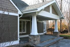 porch column ideas exterior farmhouse with brick foundation tall