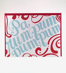 drummer boy letterpress cards set of 6 features