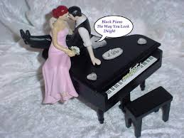 piano cake topper black baby grand piano lover look of i only