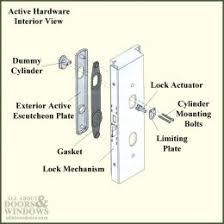 Andersen French Door Handles - andersen 400 series frenchwood hinged patio door lock mechanisms