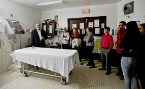 funeral director gives students tour of heroin u0027s last stop news