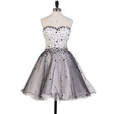 beautiful princess sweetheart homecoming dresses black and white
