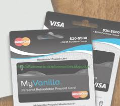 reloadable prepaid debit cards my vanilla debit card customer service phone number