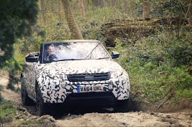 land rover off road range rover evoque convertible romps off road