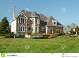 large house with three car garage royalty free stock photo image