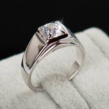 men ring designs inlay level austria zircon men ring wedding white gold
