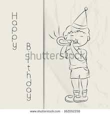 Sketch Birthday Card Happy Birthday Greeting Card Gift Card Stock Vector 162052250