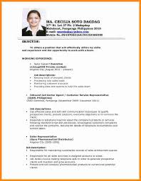 Sample Resume For Call Center Agent by 5 Applicant Resume Sample Filipino Simple Driver Resume