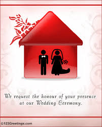 Invitation For Marriage A Wedding Invitation Free Wedding Ecards Greeting Cards 123