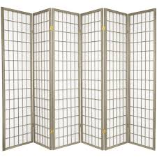 room devider world menagerie trevor 70 x 84 pane shoji 6 panel room divider
