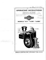 briggs u0026 stratton automobile parts 6 sfb user guide