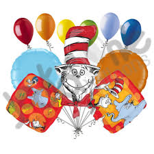 dr seuss balloons 11 pc dr seuss stories balloon bouquet party decoration cat hat