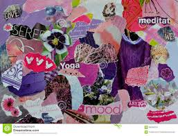 Purple Mood Atmosphere Mood Board Collage Sheet In Purple Pink And Indigo