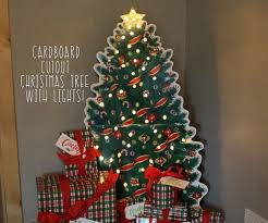 cardboard cutout christmas tree with real lights 3 steps with