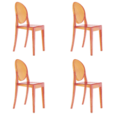 of 4 kartell victoria ghost chairs designed by philippe starck