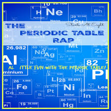 Learning The Periodic Table The Periodic Table Rap Fun U0026 Resources For The Periodic Table
