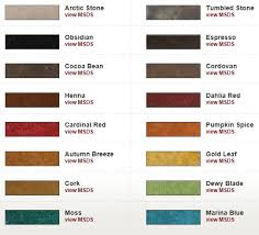 Stain Color Chart Concrete Coating Color Chart Sherwin Williams Concrete Stain U2013 Massagroup Co